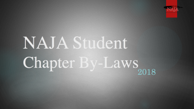 2018 NAJA Student Chapter Bylaws Cover